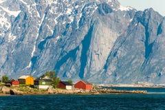Cidade pequena em Lapland imagens de stock