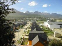 Cidade pequena em Terra do Fogo Argentina Imagens de Stock Royalty Free