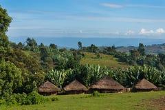 Cidade pequena, Etiópia Imagem de Stock