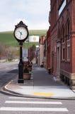 Cidade pequena EUA Waitsburg Washington Eastern State de Main Street Fotografia de Stock