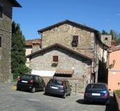 Cidade pequena italiana romântica fotos de stock royalty free