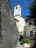 Cidade pequena italiana romântica imagens de stock