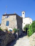 Cidade pequena italiana romântica imagem de stock