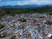 Cidade pequena mesma fresno Colômbia fotografia de stock