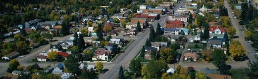 Cidade pequena na parte ocidental do estado unido fotos de stock