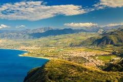 Cidade pequena Oliveri, Sicília Fotos de Stock Royalty Free