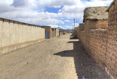Cidade pequena, San Cristobal, Eduardo Alveroa, Uyuni Bolívia, Imagens de Stock Royalty Free