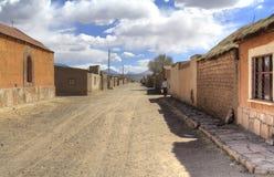 Cidade pequena, San Cristobal, Eduardo Alveroa, Uyuni Bolívia, Fotos de Stock Royalty Free