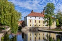 Cidade pequena Tapolca (Hungria) Fotos de Stock Royalty Free