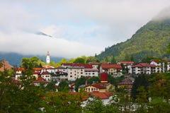 Cidade pequena Tolmin nos alpes Imagem de Stock
