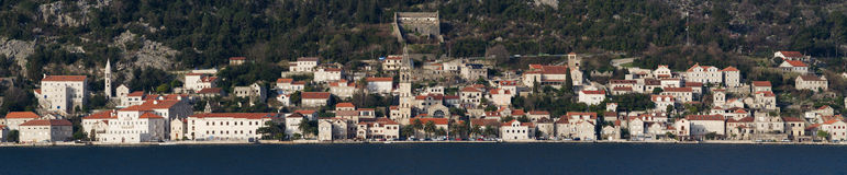 Cidade Perast de Acient em Montenegro Foto de Stock Royalty Free
