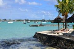 Cidade pitoresca da baía grande em Mauritius Republic Imagens de Stock