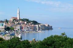 A cidade pitoresca de Rovinj Fotos de Stock Royalty Free