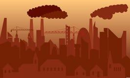 Cidade poluída Fotografia de Stock Royalty Free