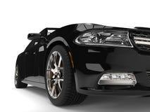 A cidade preta luxuosa moderna ostenta o tiro extremo automobilístico do close up Imagem de Stock Royalty Free