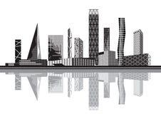Cidade preto e branco Fotografia de Stock
