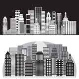 Cidade preto e branco Foto de Stock Royalty Free