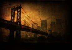Cidade profunda do grunge Foto de Stock