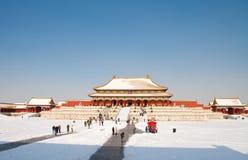Cidade proibida coberta neve Imagem de Stock
