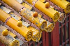 Cidade proibida da telha de telhado, China foto de stock