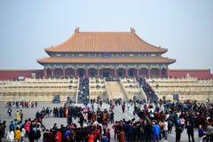 A Cidade Proibida, gugong, arquitetura chinesa tradicional no Pequim, CHINA imagens de stock