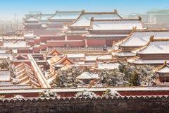 A Cidade Proibida no inverno, Pequim fotografia de stock royalty free