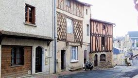 Cidade provincial da rua no oeste de França Fotografia de Stock