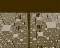 Cidade quadrada do vetor Fotos de Stock