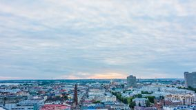 Cidade que nivela o timelapse, Kazan, Rússia video estoque