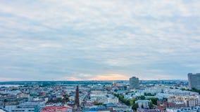 Cidade que nivela o timelapse, Kazan, Rússia vídeos de arquivo