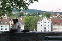 Cidade rica do ¼ de ZÃ em Suíça Imagem de Stock Royalty Free