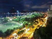 Cidade Rio de janeiro da noite foto de stock