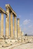 Cidade romana antiga de Gerasa Jerash moderno Imagem de Stock
