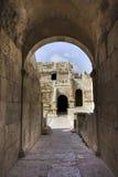 Cidade romana antiga de Gerasa Jerash moderno Imagens de Stock Royalty Free