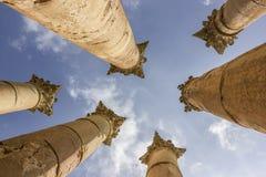Cidade romana antiga de Gerasa Jerash moderno Fotos de Stock