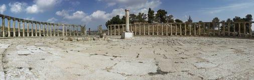Cidade romana antiga de Gerasa Jerash moderno Foto de Stock
