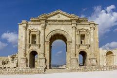 Cidade romana antiga de Gerasa Jerash moderno Foto de Stock Royalty Free