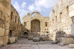 Cidade romana antiga de Gerasa Jerash moderno, Jordan Artemis Temple Fotos de Stock