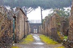 Cidade romana antiga de Pompeia, Itália foto de stock