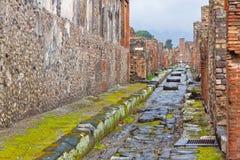 Cidade romana antiga de Pompeia, Itália imagem de stock royalty free
