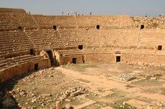 Cidade romana de Leptis Magna, Líbia Fotos de Stock Royalty Free