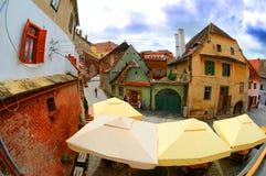 Cidade Romania de Sibiu Foto de Stock Royalty Free