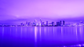 Cidade roxa Fotografia de Stock