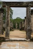 Cidade sagrado de Pollonnaruwa Foto de Stock Royalty Free