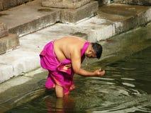 A cidade sagrado Udupi do templo foto de stock
