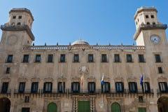 Cidade salão de Alicante Imagem de Stock
