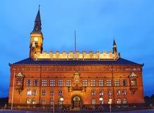 Cidade salão de Copenhaga Fotografia de Stock Royalty Free