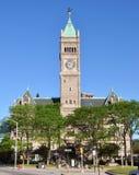 Cidade salão de Lowell, Massachusetts, EUA imagem de stock royalty free