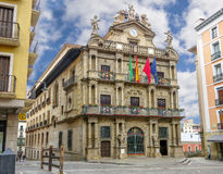 Cidade salão de Pamplona spain Fotos de Stock