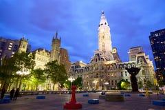 Cidade salão de Philadelphfia Imagem de Stock Royalty Free